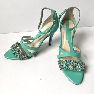 Zara Turquoise Embellished Heels